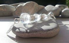 Fêtes 2014 Pendentif en pierres semi-précieuses de cristal de roche : Collier par lapassiondisabelle