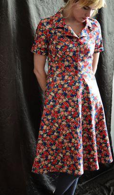Retro Dress // Primrose by LetsBacktrack on Etsy