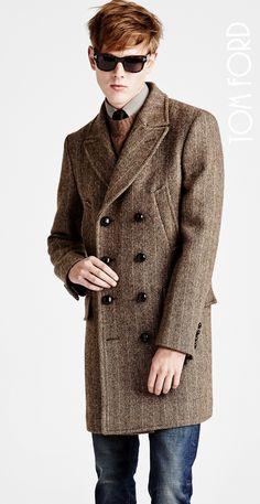 Классическое пальто из твида Tom Ford