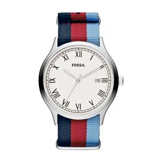 Ansel Nylon Watch - Stripe FS4799 | FOSSIL®