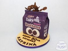 Custom cakes made in Cheshunt Chocolate Buttons, Cadbury Chocolate, Button Cake, Cake Birthday, Custom Cakes, How To Make Cake, Desserts, Food, Personalized Cakes