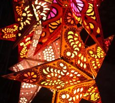 Paper Star Lanterns Pack Of Ten Light up your Wedding by catfluff