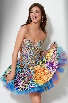 JOVANI 71316 Animal Print Short Party Prom Dress Formal Cheetah Leopard 2-4 $400 #Fashion #Style #Deal