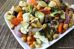 The Garden Grazer: Roasted Vegetables and Chickpeas