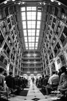 A Peabody Library Wedding - this is an amazing location.