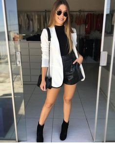 Casual winter outfits - 6 looks incríveis com Blazer – Casual winter outfits Blazer Outfits, Blazer Fashion, Chic Outfits, Trendy Outfits, Classy Outfits, Fashion Outfits, Womens Fashion, Emo Outfits, Fashion Trends