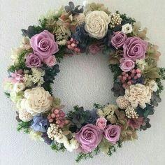 Felt Flowers, Dried Flowers, Paper Flowers, Deco Floral, Arte Floral, Diy Wreath, Door Wreaths, Corona Floral, Country Wreaths
