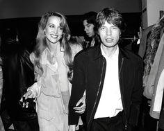 Jerry Hall et Mick Jagger en 1988