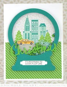 Christmas In The City Card by Nichole Heady for Papertrey Ink (September 2014)