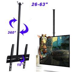 Ceiling TV Mount Bracket LCD LED 26 30 32 36 37 40 55 63 Tilt Swivel Rotate USA – EZ Big Deals