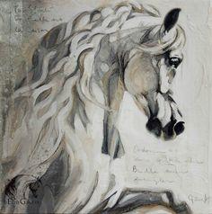 """Élise Genest Art et Chevaux Templado 15x15"""" Disponible - available"""