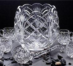 Irish Crystal Punch Bowl Set
