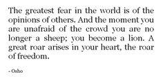 unafraid of the crowd//