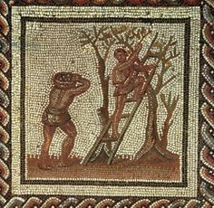 Picking Fruit, Roman Mosaic from Saint-Romain-en-Gal, France, AD 200-225, Roman, (3rd century AD) / Musee des Antiquites Nationales, St. Germain-en-Laye, France / Giraudon / The Bridgeman Art Library