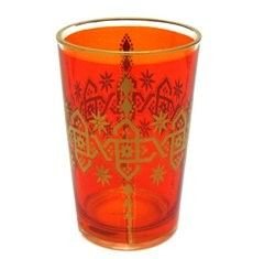 AU $8.95 Oxfam Amber Moroccan tea glass