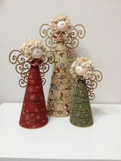 New Ideas Patchwork Christmas Angels Diy Christmas Ornaments, Homemade Christmas, Christmas Angels, Rustic Christmas, Christmas Art, Christmas Projects, Beautiful Christmas, Holiday Crafts, Christmas Holidays