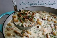 New England Clam Chowder {Slow Cooker Style} | Divine Health  I'm going to try this.  If it doesn't work out to my liking....I'll delete.  The Ingredients sound wonderful.