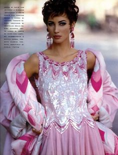 "thefashiondontlivewithoutvogue: ""Sophiscated Lady"" - Vogue Italia September 1990 (Supplement)"