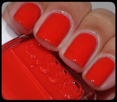 """Essie """"Hip Anema."""" Red-orange is the best shade of red for summer!"""