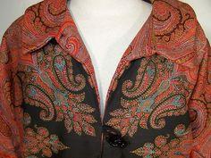 Antique Wool Paisley Shawl Suit Jacket Skirt Set