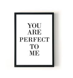 perfect to me poster / modern nursery wall decor