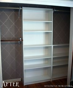 Secure a Billy or two in the closet to work as custom-designed closet system on the cheap.