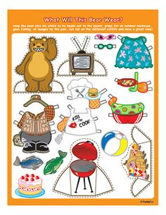Summer Printables: Bear Paper Doll  | Printables | Spoonful