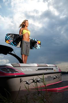 One of the best female wakeboarders in the world...oh and I want her pink Malibu!