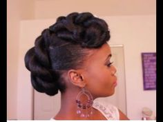 This one requires some planning but could turn out well - Bridal Updo on Ethnic Hair | Mosaic NaturalHair - YouTube