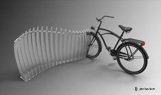 Blue-Ink Marker: Bike Rack Design