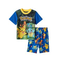 3b299e7392 Boys 6-12 Pokemon 2-Piece Pajama Set