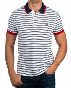 Polos Lacoste ® Azul - Minuit | ENVIO GRATIS & Mejor Precio Camisa Polo, Polo Tees, Polo Shirt, Lacoste Outlet, Polos Lacoste, Polo Outfit, Mens Activewear, Boys T Shirts, Striped Tee