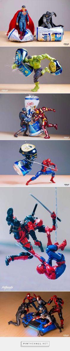 dc marvel action figures cans justice league avengers