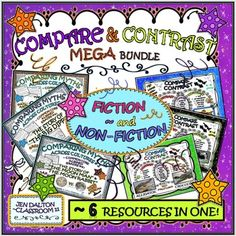 """SAVE BIG MONEY WITH THIS"""" 6-IN-ONE"""" BUNDLE! YOU WILL SAVE OVER HALF IF EACH RESOURCE WERE PURCHASED SEPARATELY! (~OVER 100 PAGES TO CHOOSE FROM.)"""