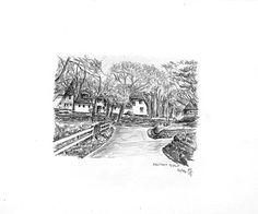 Keitum Sylt - Bleistiftzeichnung - 10/96 | ©Manfred Cremer, Bensberg, DE