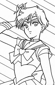 Sailor Moon coloring page More manga coloring sheets on hellokids