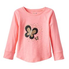 Toddler Girl Jumping Beans® Shiny Graphic Tee