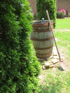 Husband put old barrel over faucet...russ and landa