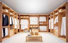 Tendencias en Muebles | Muebles de Oficina, Cocina, Baño y Jardín: Vestidor de madera con amplio espacio en el centro