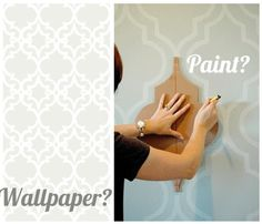 Magnifying and painting wall paper patterns make a great wall treatment - Google Image Result for http://1.bp.blogspot.com/-z46hTvdGp1Q/Tk1lK_pyRiI/AAAAAAAAElU/cqqkkQjSHuA/s1600/wall-paper-or-paint.gif