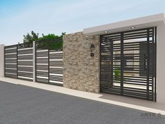 modern home exterior wall design house front decoration ideas 2019 Modern Fence Design, House Design, Home Gate Design, Exterior Wall Design, Gate House, House Front, Entrance Gates Design, Modern House Exterior, Small House Renovation