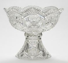 Punch Bowl and Stand  Made by Quaker City Cut Glass Company, Philadelphia, 1901 - 1924  Geography: Made in Philadelphia, Pennsylvania, United States, North and Central America Date: 1913 Medium: Lead glass, called flint glass (colorless)