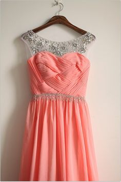 Hey, I found this really awesome Etsy listing at https://www.etsy.com/listing/178350261/coral-pink-chiffon-simple-wedding
