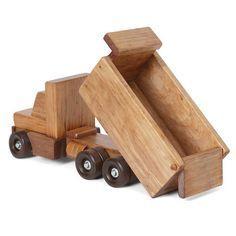 Amish Made Wooden Toy Dump Truck