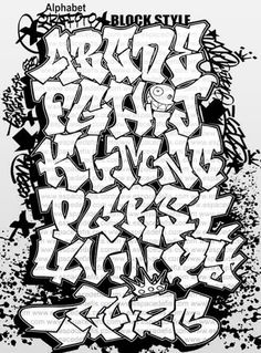 graffiti fonts alphabet - Google Search