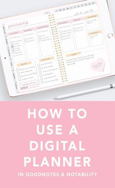 Here's a quick tutorial on how to use a digital planner on your iPad. It shows you how to use your planner in the apps Goodnotes and Notability!