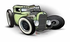 Pen Drawings of Hot Rods | Wouldn't It Be Nice? Living the Life of an Automotive Artist