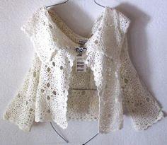 Elegant blouse with crochet pattern ~ Crochet Baby