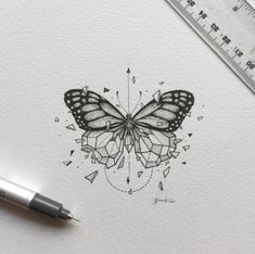 inspirational butterfly tattoo drawings, geometric tattoos, butterfly tattoo ideas for inspiration A Kunst Tattoos, Body Art Tattoos, New Tattoos, Tatoos, Xoil Tattoos, Forearm Tattoos, Maori Tattoos, Polynesian Tattoos, Sleeve Tattoos