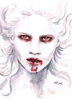 Crazy vampirelady by fnigen on deviantART